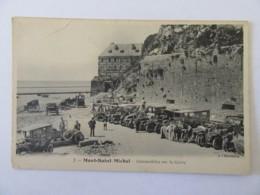Mont Saint-Michel N°1 - Automobiles Sur La Grève - Carte Animée, Non-circulée - Le Mont Saint Michel