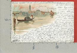 CARTOLINA VG ITALIA - Saluti Da VENEZIA - 9 X 14 - ANN. 1898 BELLAGIO - BELFAST IRLANDA - Saluti Da.../ Gruss Aus...