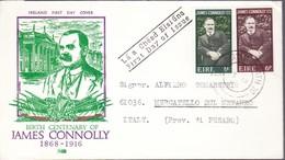 1968 - IRLANDA - JAMES CONNOLLY - BUSTA FDC. - FDC