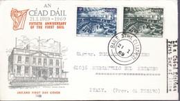 1969 - IRLANDA - 50th Anniversary Of The Irish Parliament - BUSTA FDC. - FDC