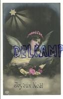 Photographie Montage. Ange , étoile, Partition, Couronne De Fleurs. Ajoutis De Petits Points Blancs  (peinture ?). 1907 - Anges