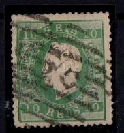 1879-1880 Portugal - DLFD, Novas Cores. 10 R Denteado 13 1/2. - Used Stamps