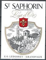 Etiquette De Vin Du Canton De Vaud  * St Saphorin - Lys D'Or  * - Etiquettes