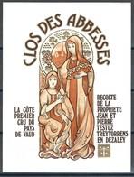 Etiquette De Vin Du Canton De Vaud  * Testuz - Clos Des Abbesses  * - Etiquettes