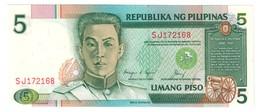 Philippines 5 Pesos 1985 Pick 168D UNC .C4. - Filippine