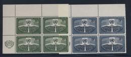 ONU 1956 BLOC DE 4 JOURNEE DES NATIONS-UNIES  YVERT N°44/45  NEUF MNH** - Ungebraucht