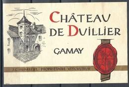 Etiquette De Vin Du Canton De Vaud  * Château De Duillier - Gamay * - Etiquettes
