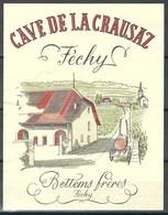 Etiquette De Vin Du Canton De Vaud  * Féchy - Cave De La Crausaz * - Etiquettes