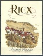 Etiquette De Vin Du Canton De Vaud  * A. Ponnaz - Riez * - Etiquettes