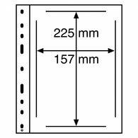 Kunststoffhüllen OPTIMA, Für ETBs, Schwarz, 10er Pack - Briefmarken
