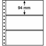 LEUCHTTURM R-Tafeln, 3er Einteilung 248 X 94 Mm, Schwarz, 5er Pack - Briefmarken
