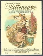 Etiquette De Vin Du Canton De Vaud  * Villeneuve - Les Terrasses * - Etiquettes