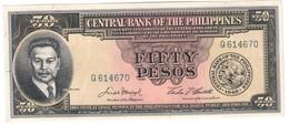 Philippines 50 Pesos 1949 UNC .C4. - Filipinas
