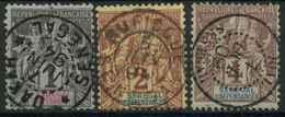 Sénégal (1887) N 8 à 10 (o) - Sénégal (1887-1944)