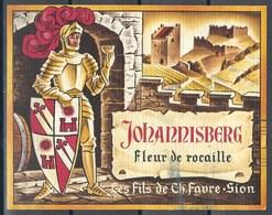 Etiquette De Vin Du Canton Du Valais  * Johannisberg - Fleur De Rocaille * - Etiquettes