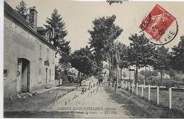 58, Niévre, CORVOL-L'ORGUEILLEUX, L'Avenue Et L'Hotel De La Gare, Scan Recto-Verso - Otros Municipios
