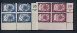 ONU 1956 BLOC DE 4 DROITS DE L'HOMME  YVERT N°46/47  NEUF MNH** - New York - Sede De La Organización De Las NU