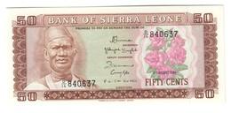 Sierra Leone 50 Cents 1984 UNC .C4. - Sierra Leona