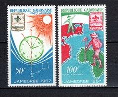 GABON PA N° 58 + 59  NEUFS SANS CHARNIERE COTE 3.50€  SCOUTISME  SOLEIL - Gabon (1960-...)