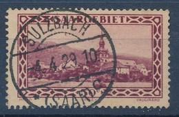 "SARRE - SAAR - Mi Nr 114 -  Stempel ""SULZBACH (SAAR)"" - (Ref. 15) - 1920-35 Société Des Nations"