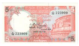 Sri Lanka 5 Rupees 01/01/1982 UNC .C4. - Sri Lanka