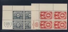 ONU 1953 BLOC DE 4 DROITS DE L'HOMME  YVERT N°21/22  NEUF MNH** - Ungebraucht