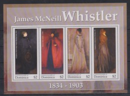 W906. Dominica - MNH - Art - Paintings - Whistler - Arts