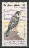SPM - Saint-Pierre-et-Miquelon - YT PA 76 ** - 1997 - Faucon Pèlerin - Oiseau - Bird - Poste Aérienne
