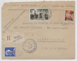 1958 - REUNION - ENVELOPPE RECOMMANDEE De PLAINE DES CAFRES =>  ST DENIS - Réunion (1852-1975)