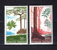 GABON PA N° 63 + 64  NEUFS SANS CHARNIERE COTE 5.00€  BOIS FORET - Gabon (1960-...)