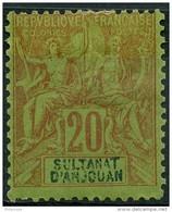 Anjouan (1892) N 7 * (charniere) - Anjouan (1892-1912)