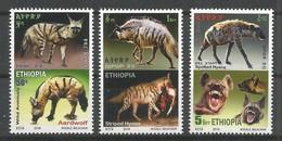 Ethiopia Ethiopie Äthiopien NEW ISSUE 2019 Complete Set Of 3 MNH / ** Wild Animals Hyena Fauna - Felinos