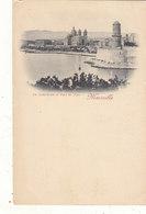 MARSEILLE : T.RARE CPA DOS SIMPLE DE 1897.FORT ST JEAN ET CATHEDRALE.UNE DES 1ERE CPA DE MARSEILLE.B.ETAT.A SAISIR - Joliette, Zone Portuaire