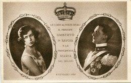 PRINCIPE UMBERTO DI SAVOIA E LA PRINCIPESSA MARIA DEL BELGIO. ITALIA CARTA POSTALE CPA CIRCA 1930's NON CIRCULE -LILHU - Koninklijke Families
