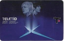 Faroe - Teledit - Woman And Man, 100Kr. GSM Refill, Exp. 01.12.2007, Used - Faroe Islands
