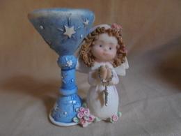 """Ancien Petit Bougeoir """"Communion"""" - Miniatures Décoratives"""