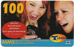 Greenland - Tusass - 2 Girls With Mobile, GSM Refill, 100kr. Exp. 17.05.2009, Used - Greenland