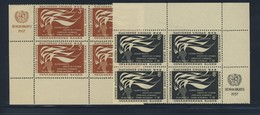 ONU 1957 BLOC DE 4 DROITS DE L'HOMME  YVERT N°54/55  NEUF MNH** - Ungebraucht
