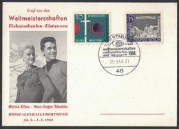 E71   Germany 1964  World Champ In Figure Skating And Ice Dancing, Championne Du Monde De Patinage Artistique ... - Pattinaggio Artistico
