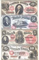 US Notes 13 Note Set 1878 COPY - United States Notes (1862-1923)