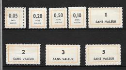 France: Fictifs, Petit Lot, Provenant Des Carnets De La Formation Professionnelle - Fictifs