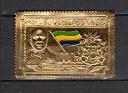 GABON PA N° 76  NEUF SANS CHARNIERE COTE  27.50€   PRESIDENT LEON MBA  TIMBRE OR - Gabon (1960-...)