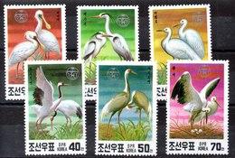 Serie De Cores Del Norte N ºYVert 2182/87 ** AVES BIRDS) - Korea, North