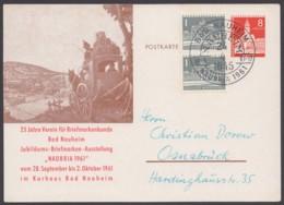 "PP 17 D 2/01 ""Bad Nauheim"", 1961, Frenkarte Mit Zusatzfrankatur, Pass. Sst. - [5] Berlin"