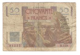 Billet 50 Francs France Le Verrier 19-5-1949 - 1871-1952 Circulated During XXth