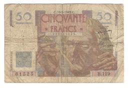 Billet 50 Francs France Le Verrier 19-5-1949 - 1871-1952 Antiguos Francos Circulantes En El XX Siglo