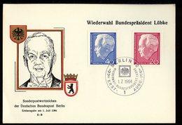 Allemagne Berlin - Germany - Deutschland CM 1964 Y&T N°211 à 212 - Michel N°234 à 235 - Président H Lübke - [5] Berlin