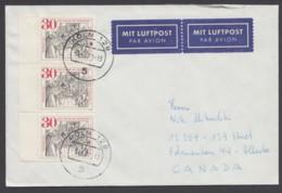 669, MeF Mit 3 Werten Auf Luftpost Nach Canada - BRD