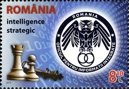 Roumanie Romania 5738 Police, Renseignement, Stratégie, Intelligence, Hibou, Jeu D'échecs, Chess - Police - Gendarmerie