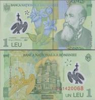 Romania Pick-number: 117f Uncirculated 2011 1 Leu (plastic) - Romania